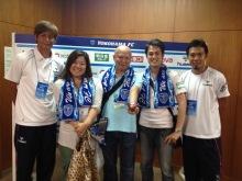 横浜FCクラブメンバーズDAY 貴賓室にて永井さんと中島さんと